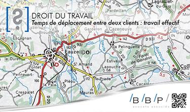 Temps de déplacement entre 2 clients - Avocat droit du travail Paris