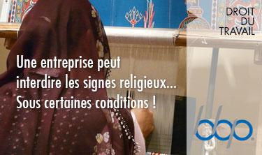 signes religieux en entreprise
